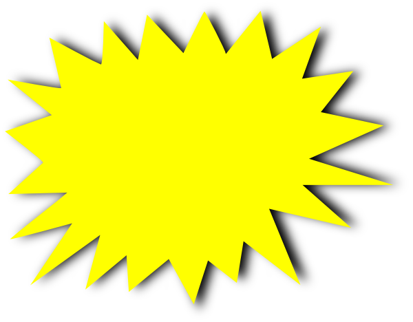 Yellow starburst clipart clipartfest.