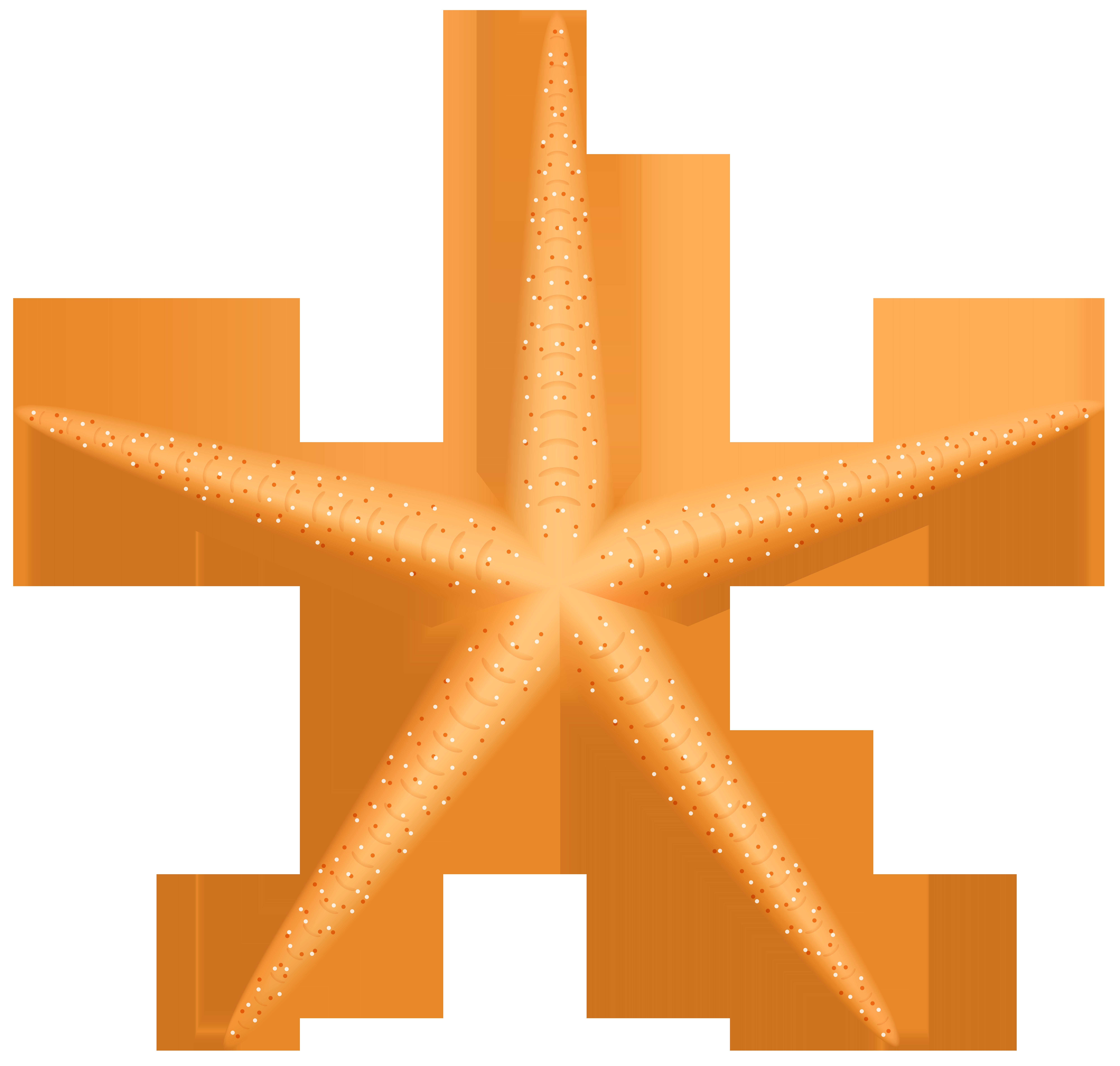 Yellow Starfish PNG Clip Art.