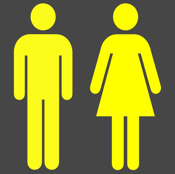 Man Woman Symbol In Yellow Clip Art at Clker.com.