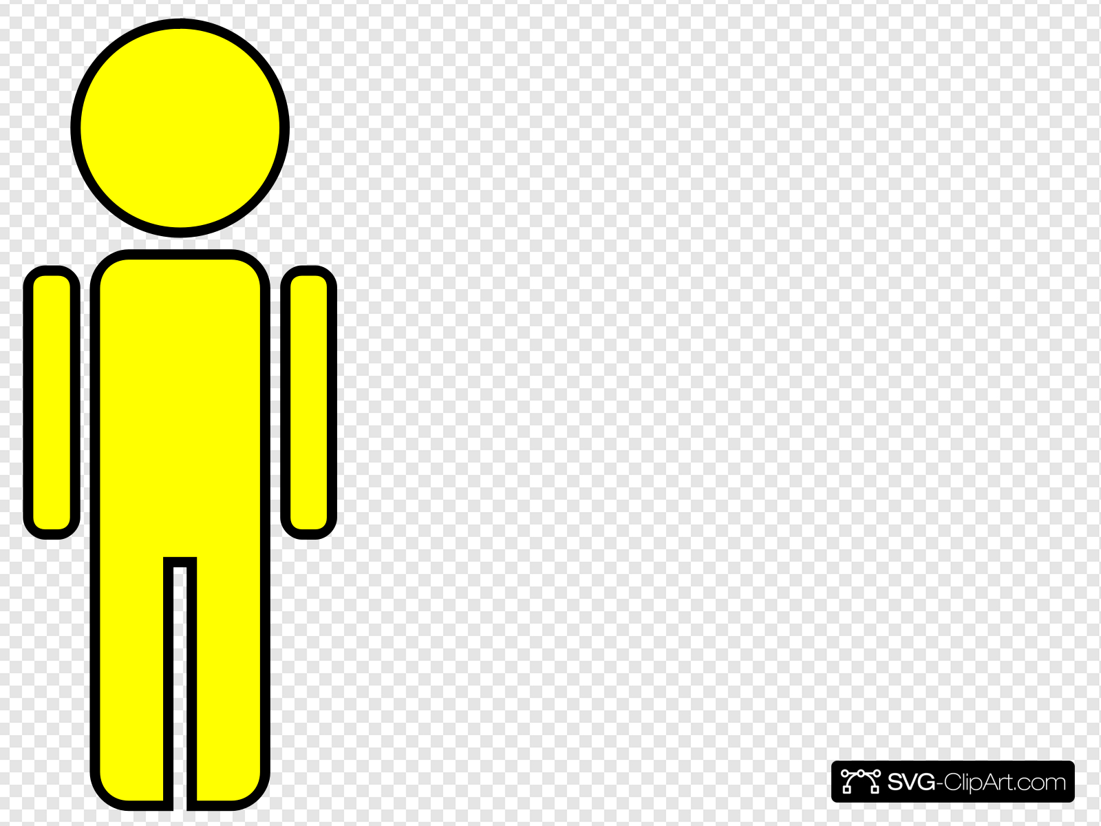 Stick Figure Man Yellow Clip art, Icon and SVG.