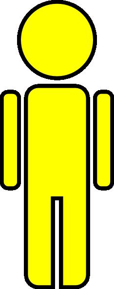 Stick Figure Man Yellow Clip Art at Clker.com.