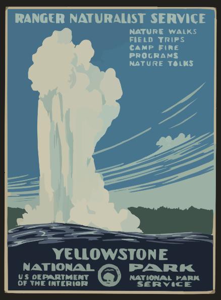 Yellowstone Park Clip Art.