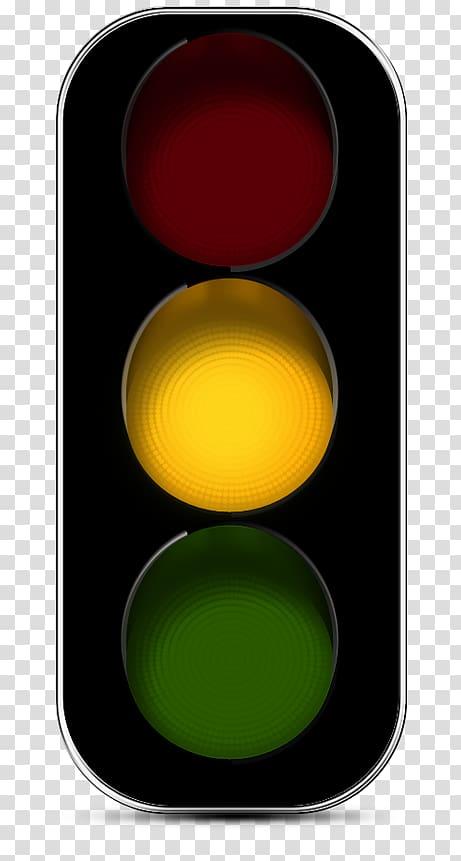 Traffic light Yellow, traffic light transparent background.