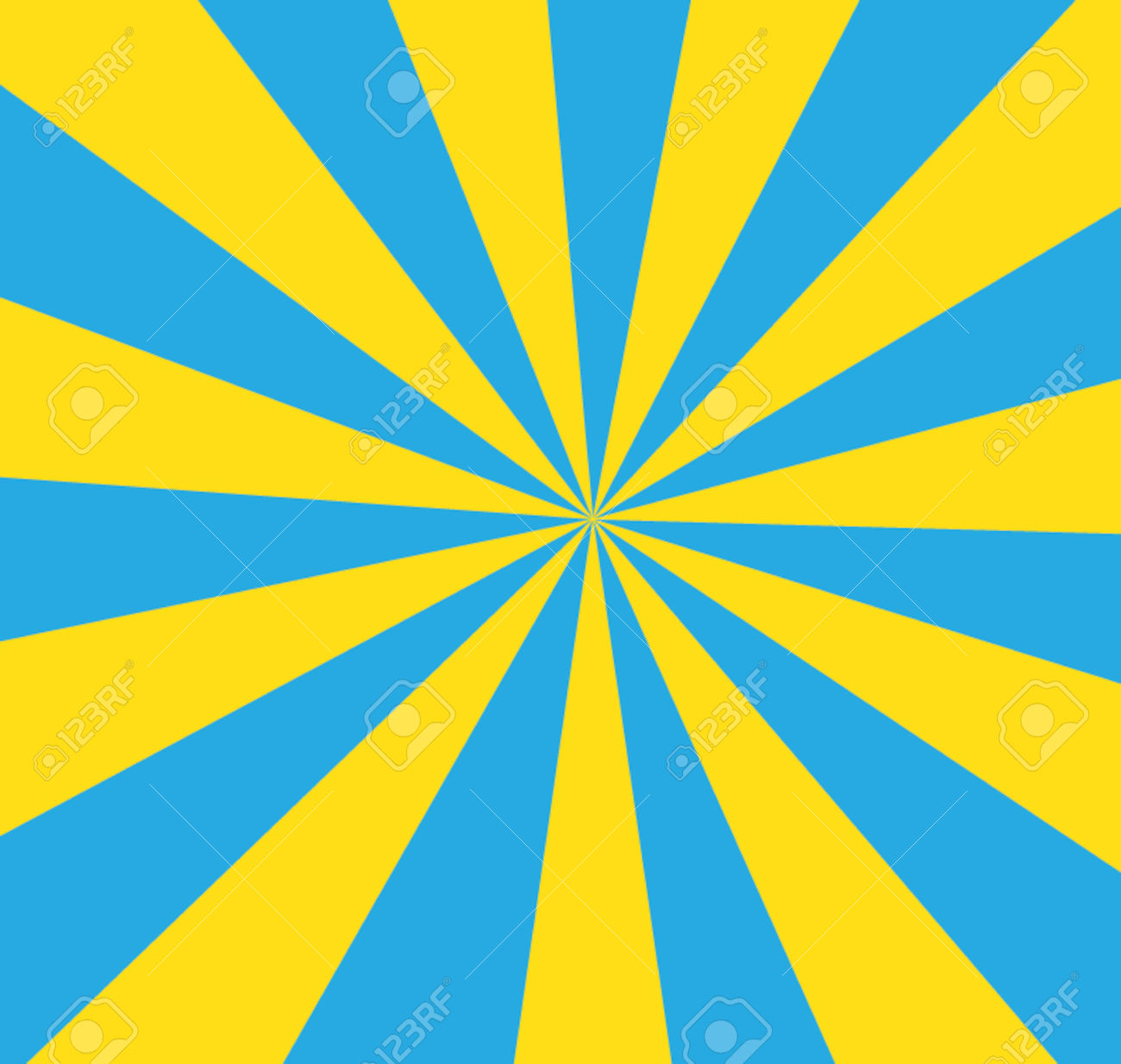 Blue and yellow striped clipart.