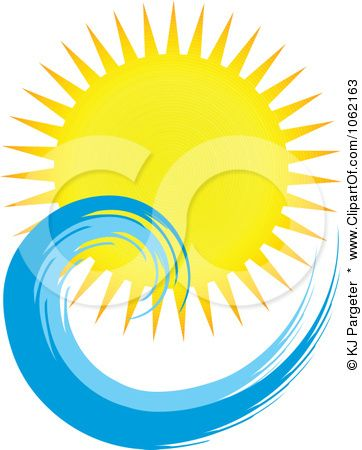 Clipart Summer Sun And Ocean Wave 5.