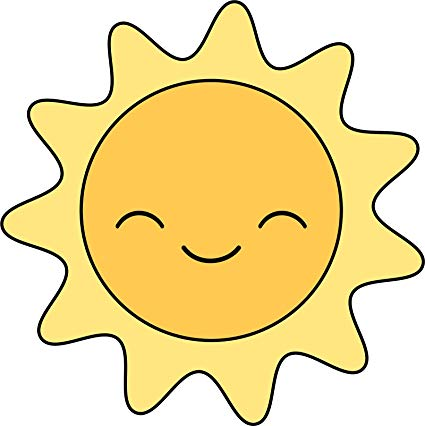 Amazon.com: Cute Adorable Kawaii Smiling Bright Yellow Sun.