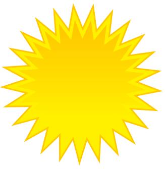 Yellow Sun Clipart.