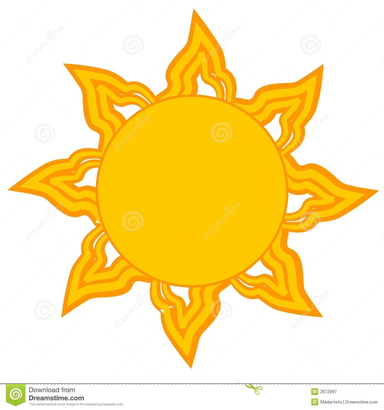 Bright Yellow Sun Clip Art Royalty Free Stock Photos.
