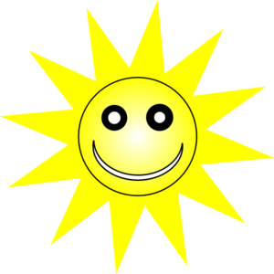 Pretty Yellow Sun Clipart.