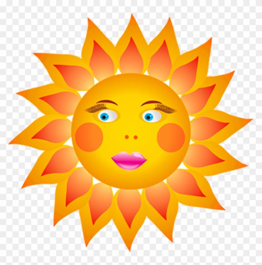 sun happy face clipart #1
