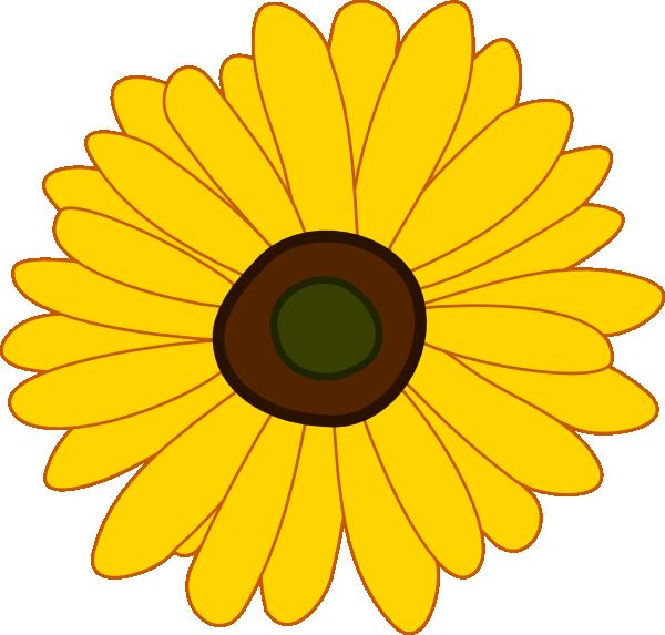 Yellow Sunflowers Clipart.