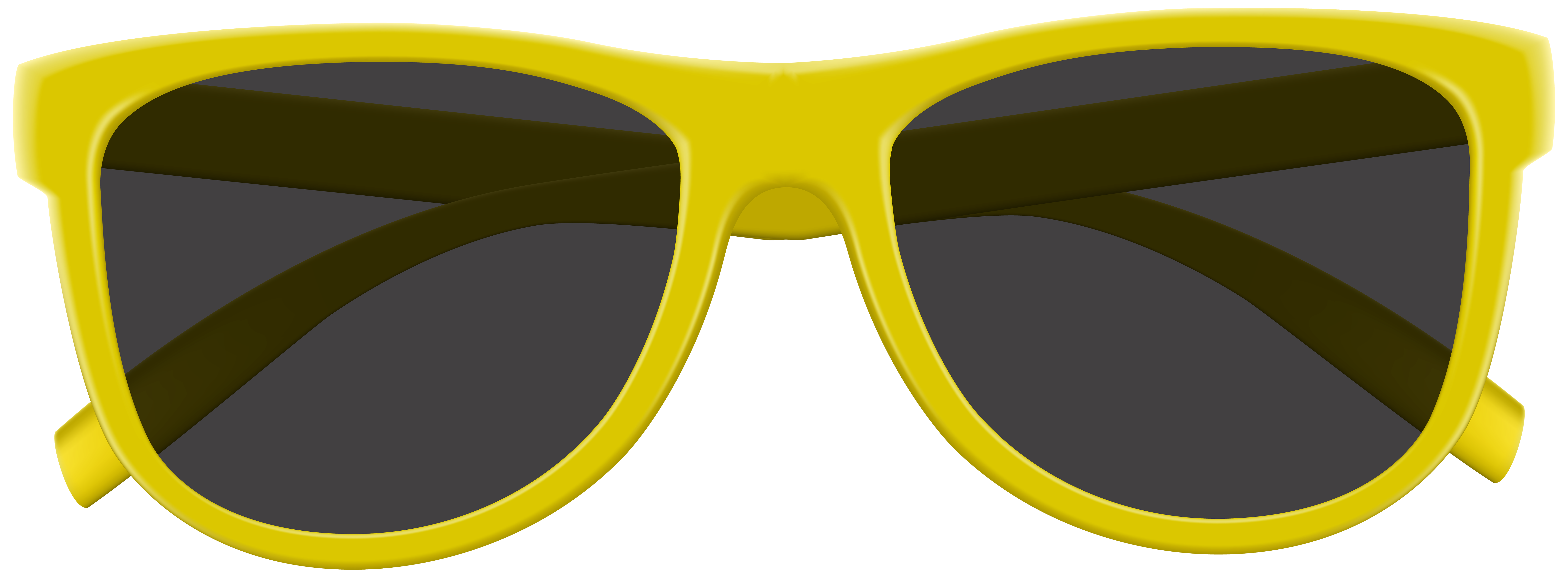 Yellow Sunglasses PNG Clip Art Image.