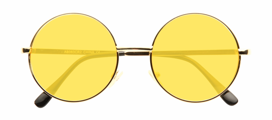 Ozzy Osbourne Style Tinted Lens Round Celebrity Sunglasses.