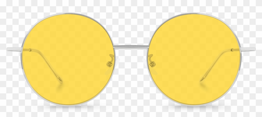 Front View Of Exciter Yellow Round Sunglasses Made.