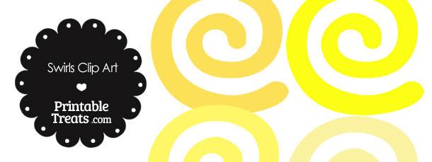 Yellow Swirl Clip Art.