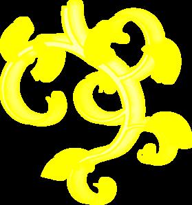 Yellow Swirl Clip Art at Clker.com.
