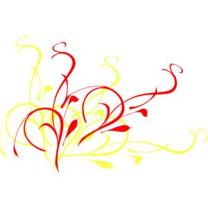 Red Yellow Swirl clip art.