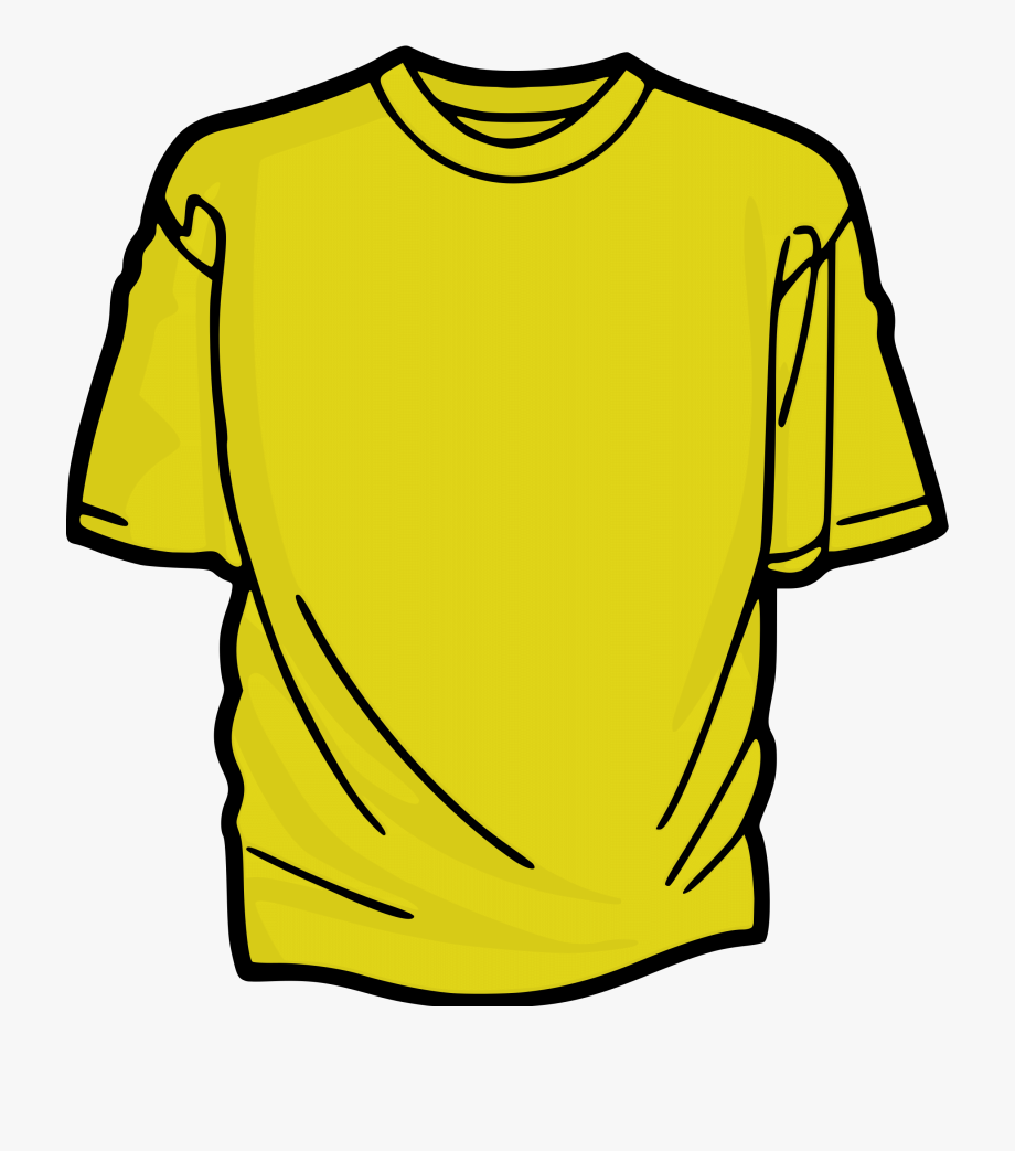 People In Yellow T Shirts Clipart.