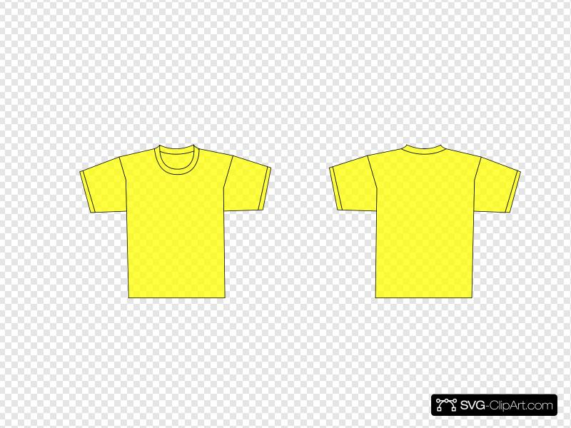 Yellow Plain Shirt Template Clip art, Icon and SVG.