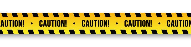 Caution Tape Free Vector Art.
