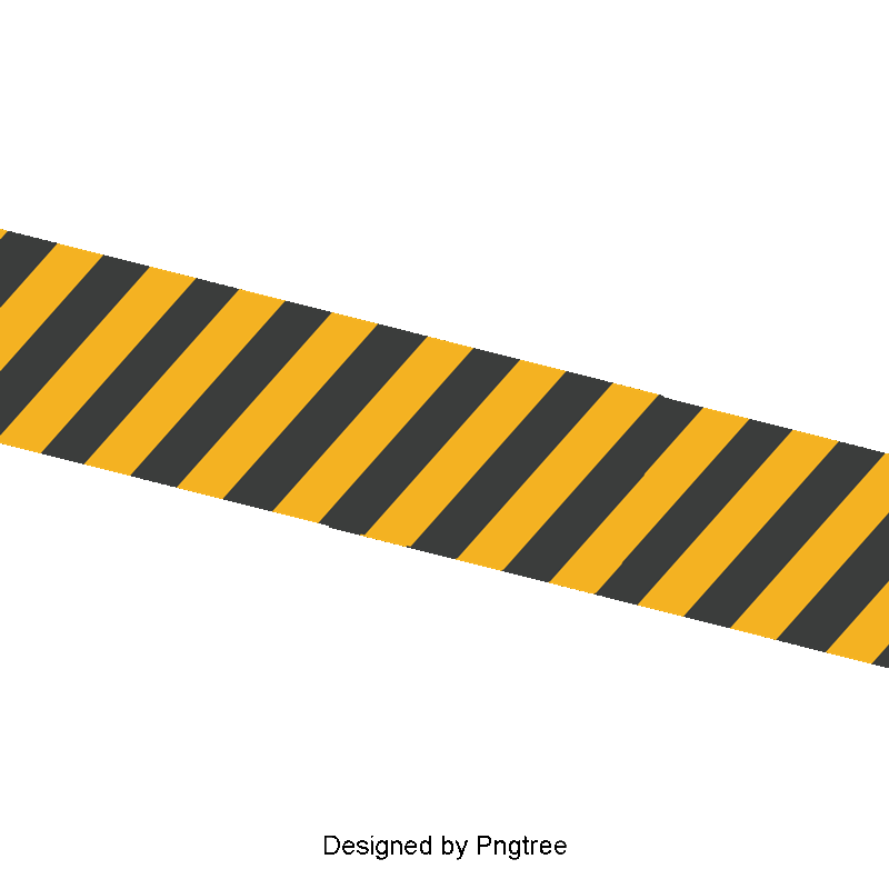 Vector Yellow Black Belt, Barrier, Warning Tape, Caution Tape PNG.