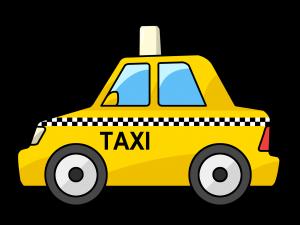 Free Cartoon Yellow Taxi Cab Clip Art.