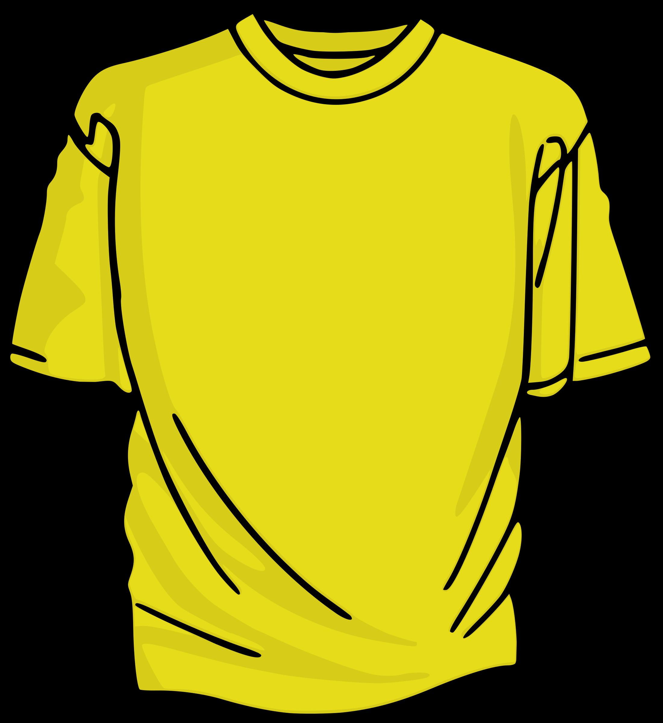 Yellow Tshirt Clipart.