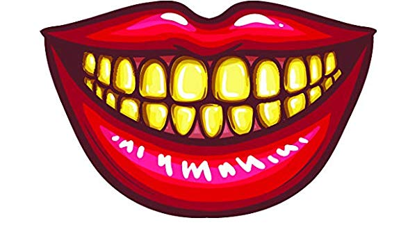Amazon.com: Simple Red Lip Mouth with Teeth Cartoon Emoji.