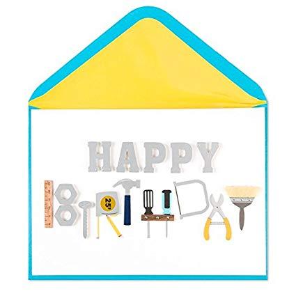 Amazon.com : PAPYRUS Birthday Tool Belt Card for Him.