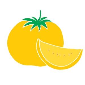 Yellow Tomato Clipart Image.