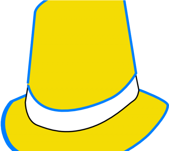 Top Hat Clipart Yellow , Transparent Cartoon.