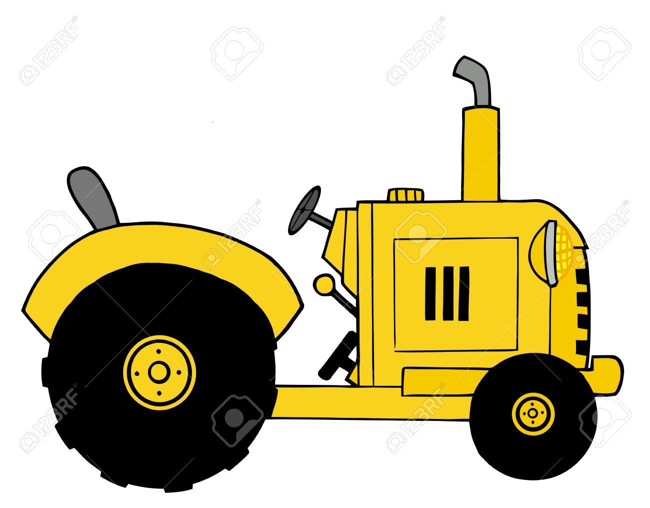 Yellow Farm Tractor.