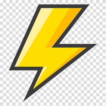 Yellow lightning artwork, Lightning Bolt Symbol , lighting.