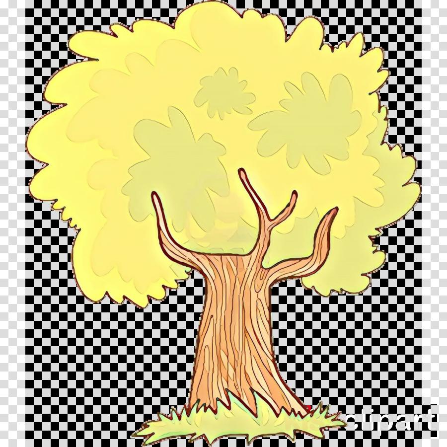 yellow tree clip art cartoon woody plant clipart.