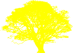Yellow tree clipart.