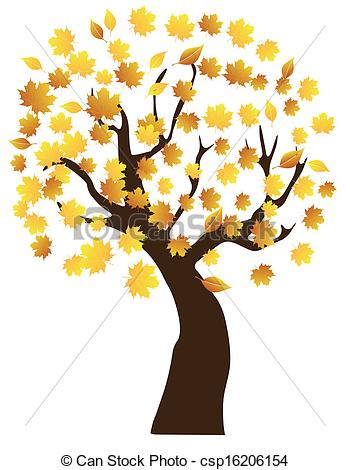 Clipart Vector of Fall Tree.