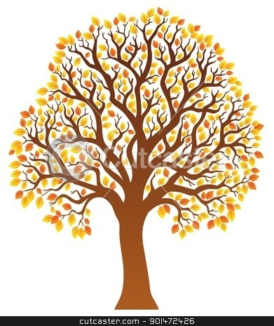 Yellow trees clipart - Clipground