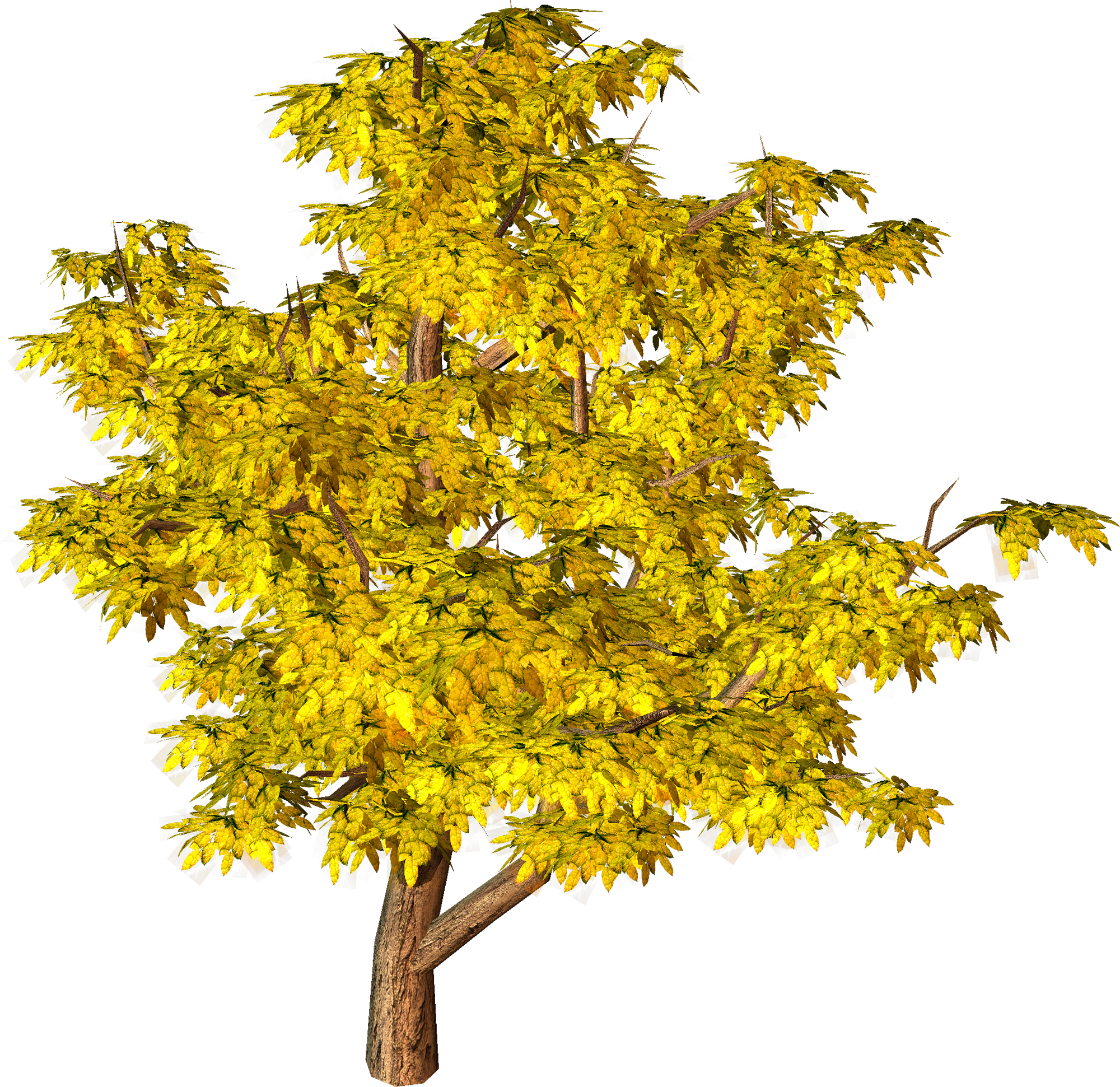 Yellow Fall Tree PNG Clipart.