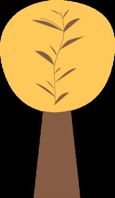 Yellow Autumn Tree Clip Art.
