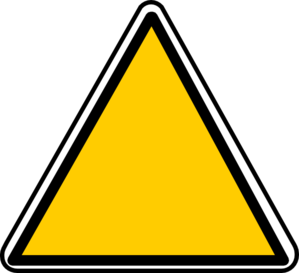 Yellow Triangle Sign Clip Art at Clker.com.