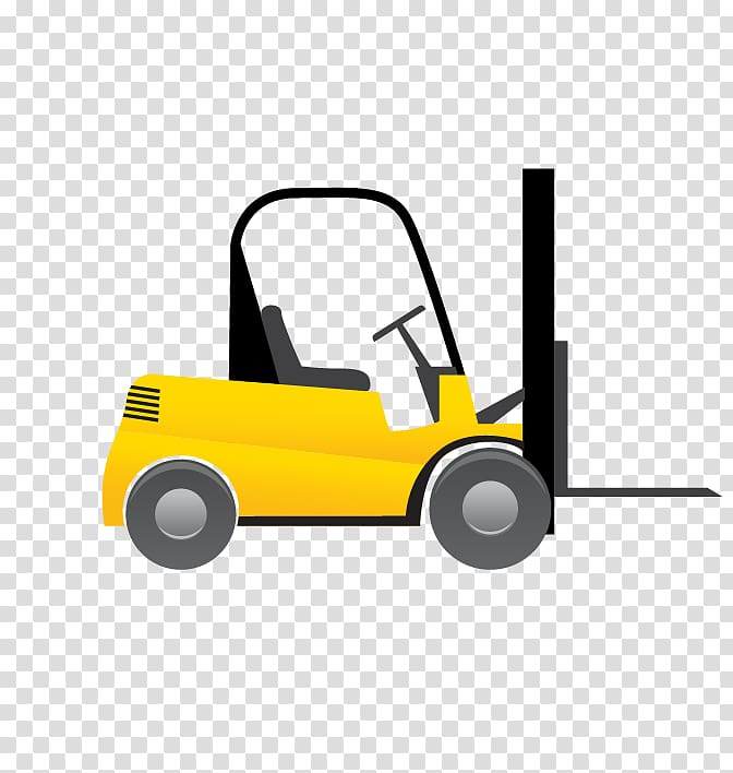 Forklift Euclidean Logistics, yellow truck transparent.