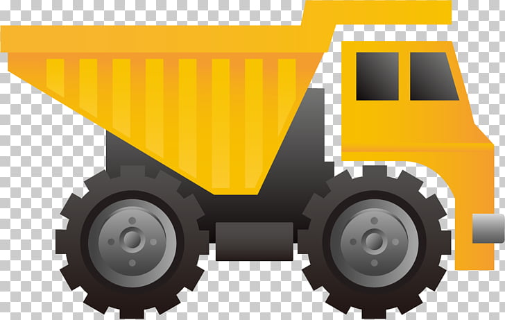 Architectural engineering Tool , yellow truck PNG clipart.