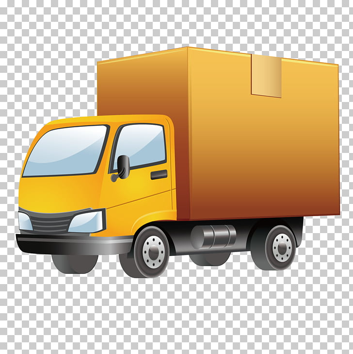 Ford Cargo Truck Vehicle tracking system, Yellow truck PNG.