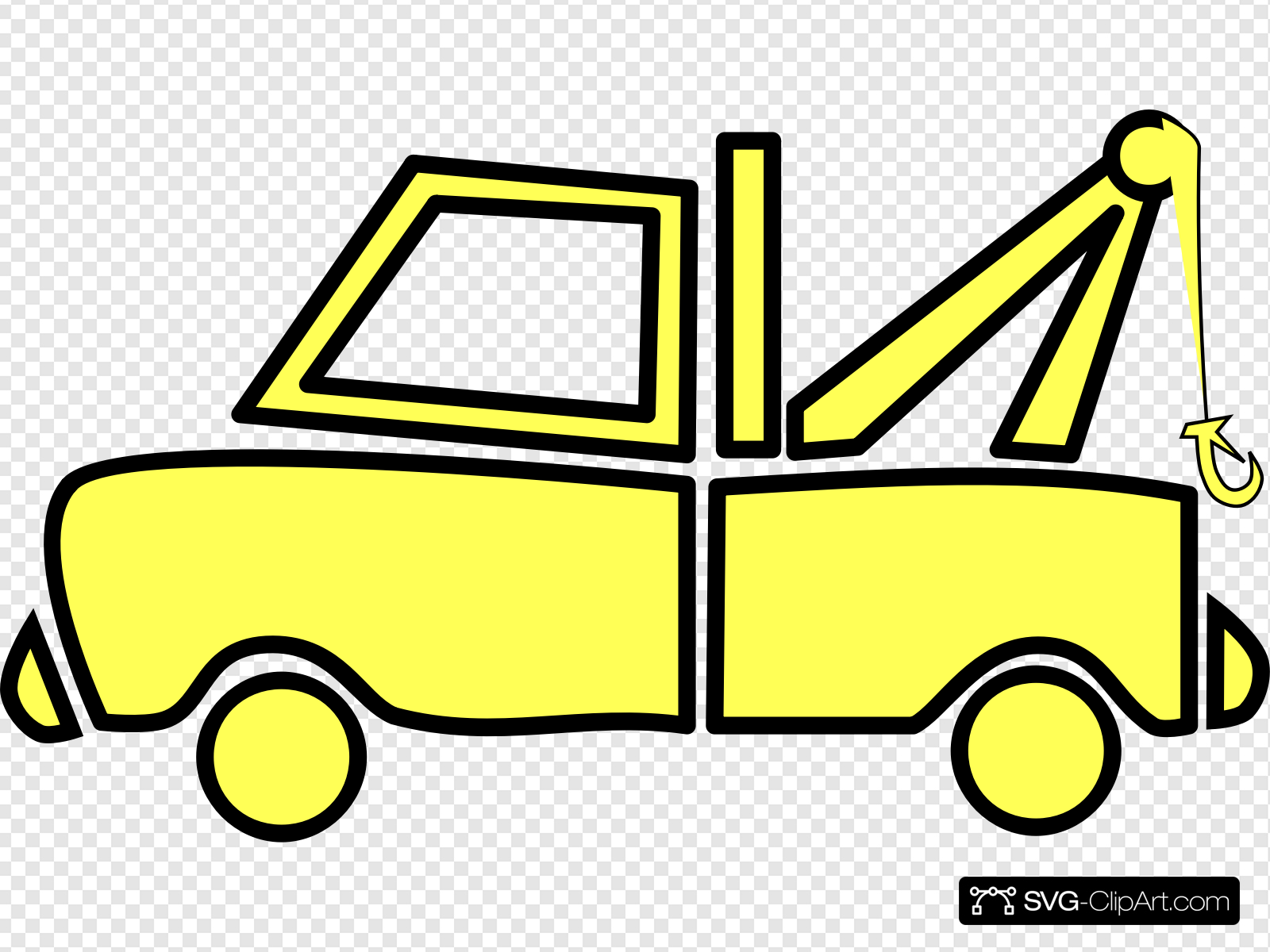 Yellow Tow Truck Clip art, Icon and SVG.