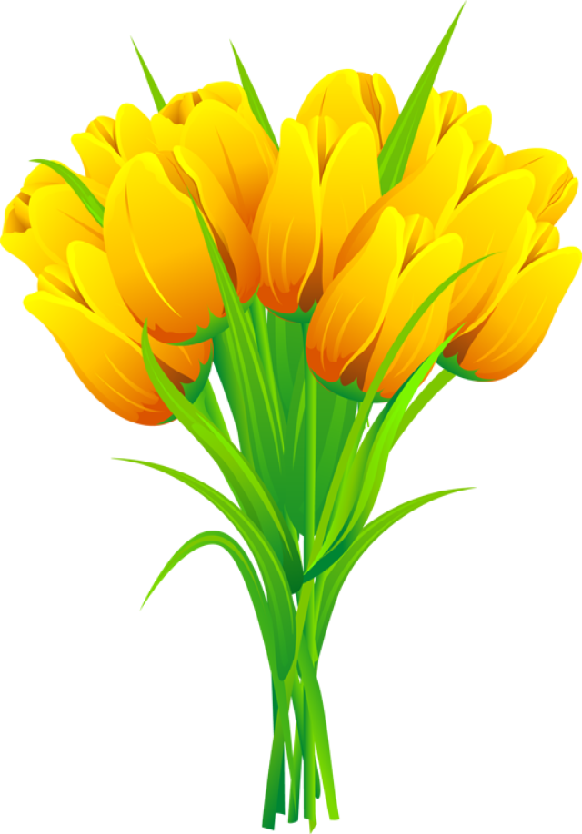 Red and Yellow Tulips Clip Art.
