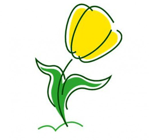 Showing post & media for Cartoon yellow tulip.