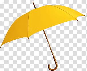 Autumn, yellow umbrella transparent background PNG clipart.