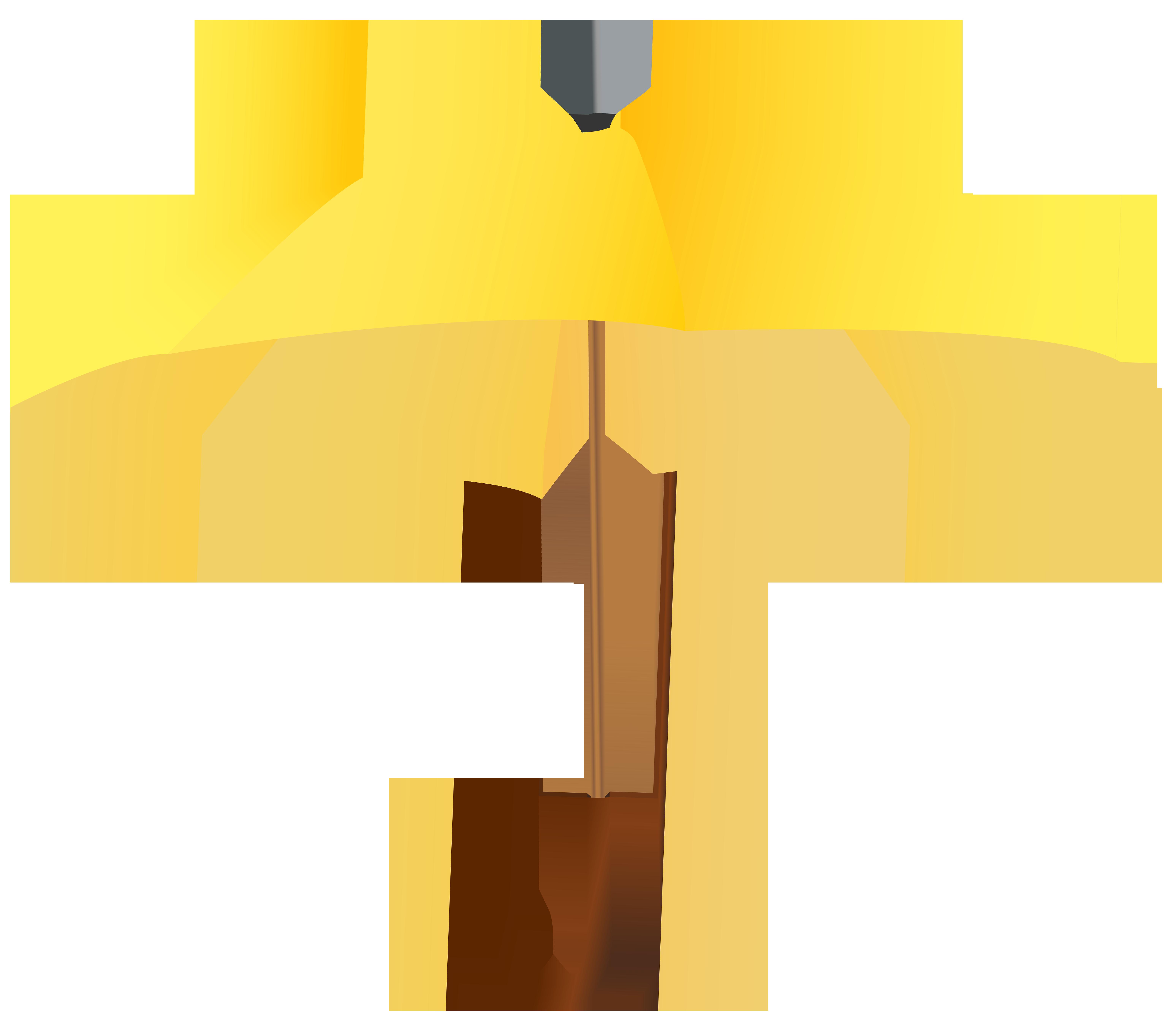 Yellow Umbrella PNG Clipart Image.