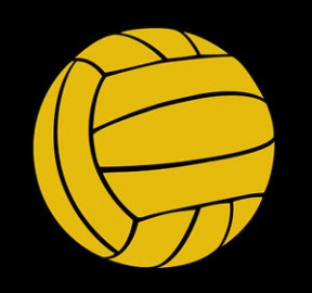 Yellow Volleyball Clipart.