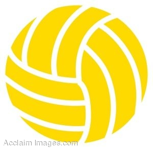 Clip Art of a Volleyball.